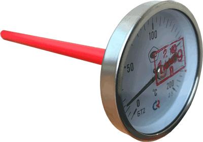 Термометр стрелочный БТ-23.220 с поверкой