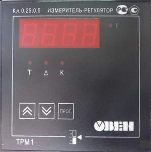 Измеритель-регулятор ТРМ1-Щ11 передняя панель