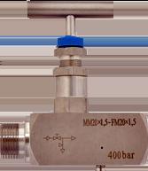 Kлапан из нержавеющей стали игольчатый для агрессивных сред давление 400 атм